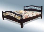 Кровать с ортопедическим  основанием Хорт с ковкой из дуба