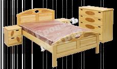 Кровать с ортопедическим  основанием Галант (сосна)