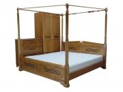 Кровать с ортопедическим  основанием Неаполь с балдахином