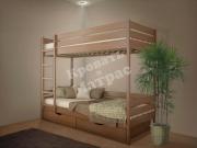 Деревянная кровать двухъярусная Омаль 2