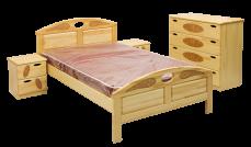 Кровать Галант (сосна) с матрасом