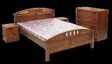 Кровать Галант (береза) с матрасом
