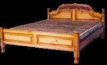 Кровать Адмирал (резьба) с матрасом