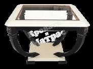Стол Лев-1 со стеклом