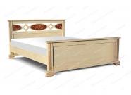 Кровать с ортопедическим  основанием Павия из дуба