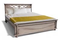 Кровать Таранто из дуба с матрасом