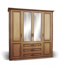 Шкаф 4-створчатый из сосны из серии