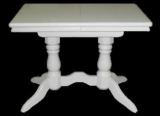 Стол 2 ноги прямоугольный белая эмаль